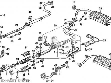 1990 honda civic exhaust diagram
