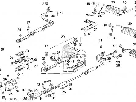 99 civic exhaust diagram honda integra headlights honda free engine image for