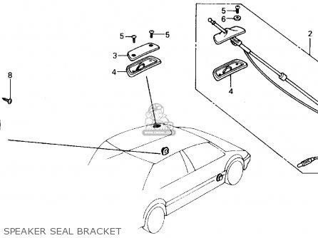 Honda Civic 1989 K 4dr Dx Kakl Parts Lists And Schematics