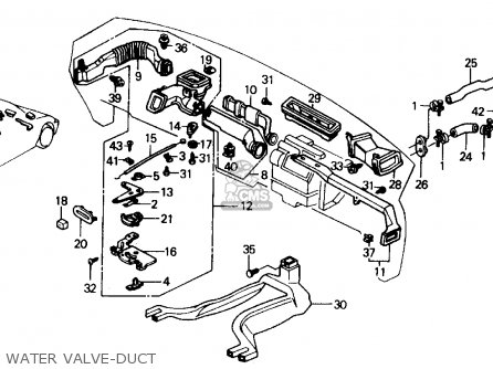 Honda Civic 1989 K 4dr Dx Kakl Parts Lists And Schematics