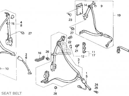 D16y5 Engine Diagram furthermore View Acura Parts Catalog Detail also B18a1 Engine Wiring Diagram also 94 Integra Belt Diagram also Thermal Protector Wiring Diagram. on b18b1 vacuum diagram