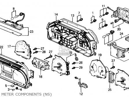 Honda Civic L Dr Ex Ka Kl Meter Components Ns Medium B A