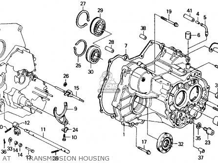 honda civic 1990 (l) 4dr lx (ka,kl) at transmission housing  at  transmission housing � honda civic 1990