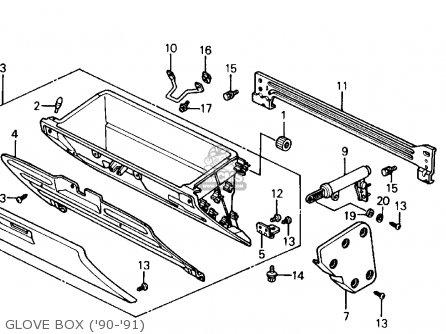 Honda Civic 1991 M 4dr Ex Kakl Parts Lists And Schematics