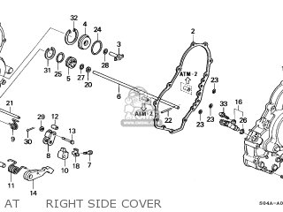 honda civic 1998 w 4dr ex ka parts lists and schematics 2000 Honda Civic Engine Diagram at right side cover