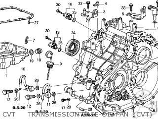 Honda Civic 2004 4 4dr Gx Abs Side Srs Ka Parts Lists And Schematics Door Cvt Transmission Case Oil Pan Diagram