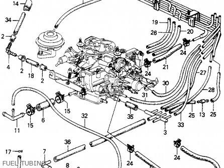 honda civic htbk wagon 1981 b 3dr gl 1500 ka kh kl parts lists 2001 GMC Van fuel tubing