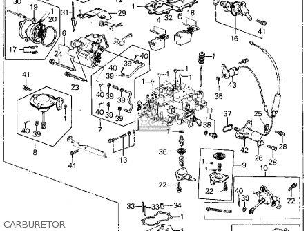honda civic htbk  wagon 1982 3dr1300  ka kh kl  parts list