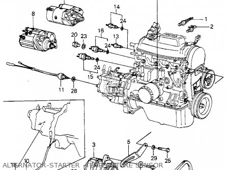 Diagram 2008 Honda Civic Starter Location on 2003 honda cr v parts diagram