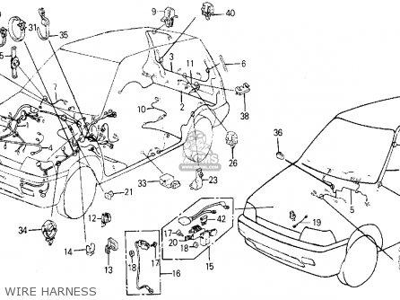 Honda Civic Wagon 1984 E Wgn Dx Kakl Parts Lists And Schematics
