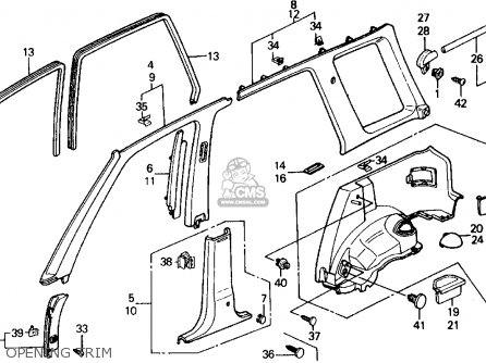 1990 Honda Civic Seat Belt Diagram