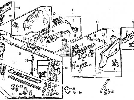 honda civic wagon 4wd 1987  h  wgn 4wd  ka kl  parts list