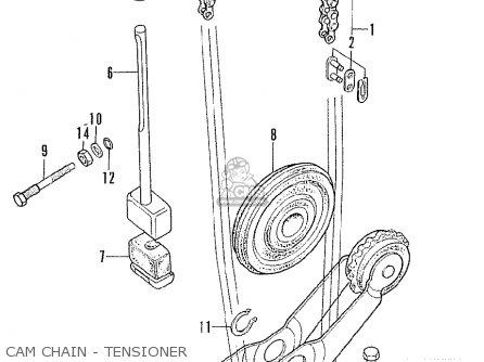 Honda Cl175 Scrambler 175 K6 1972 Usa Cam Chain - Tensioner