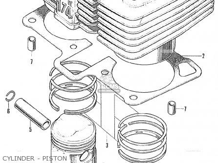 Honda Cl175 Scrambler 175 K6 1972 Usa Cylinder - Piston
