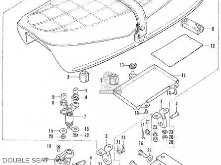 Honda Cl175 Scrambler 175 K6 1972 Usa Double Seat