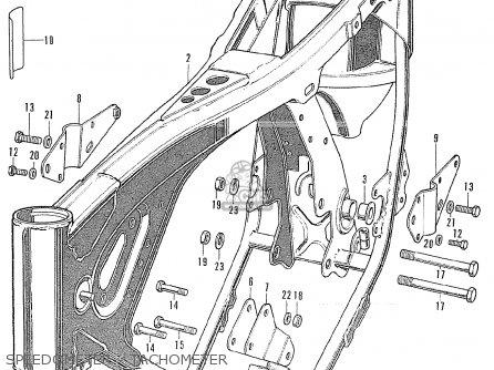 Honda Cl175 Scrambler 175 K6 1972 Usa Speedometer - Tachometer