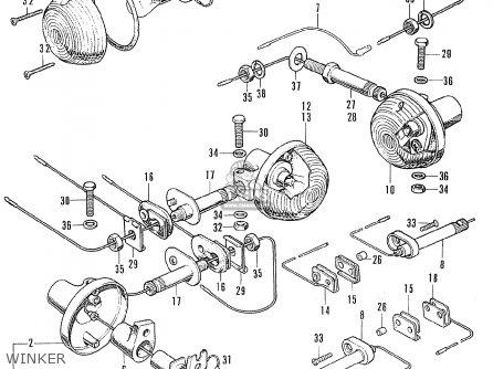Honda Cl175 Scrambler 175 K6 1972 Usa Winker