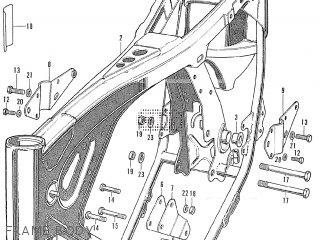 Honda Cl175 Scrambler 1972 K6 Usa Frame Body