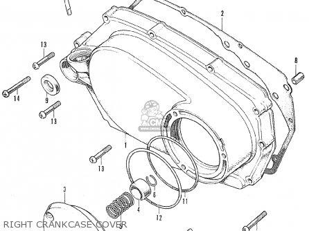 honda cl175 scrambler 1972 k6 usa right crankcase cover