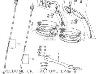 Honda Cl175 Scrambler 1972 K6 Usa Speedometer - Tachometer