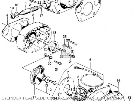 Honda Cl350 Scrambler 1968 K0 Usa Parts Lists And Schematics