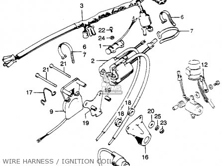 Honda Cl Scrambler K Usa Wire Harnessignition Coil Mediumhu F