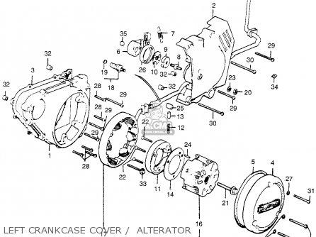 honda cl360 scrambler 360 k1 1975 usa parts list