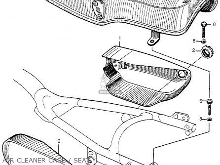 Honda Cl72 Scrambler 1962 Usa   250 Air Cleaner Case   Seat