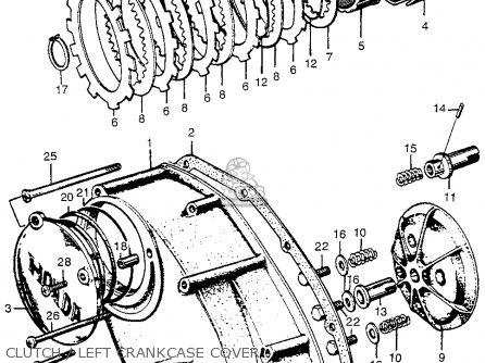 Honda Cl72 Scrambler 1962 Usa   250 Clutch   Left Crankcase Cover