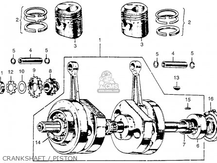 Honda Cl72 Scrambler 1962 Usa   250 Crankshaft   Piston