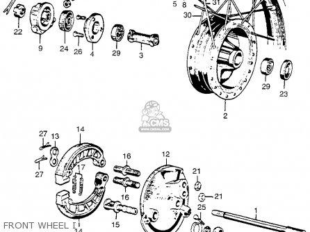 Honda Cl72 Scrambler 1962 Usa   250 Front Wheel I