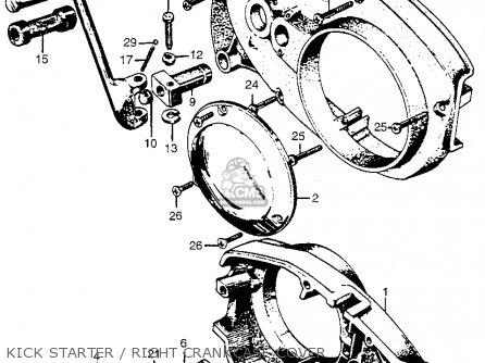 Honda Cl72 Scrambler 1962 Usa   250 Kick Starter   Right Crankcase Cover