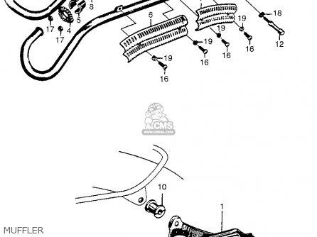 Honda Cl72 Scrambler 1962 Usa   250 Muffler
