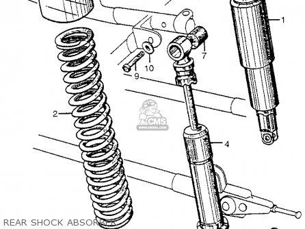 Honda Cl72 Scrambler 1962 Usa   250 Rear Shock Absorber