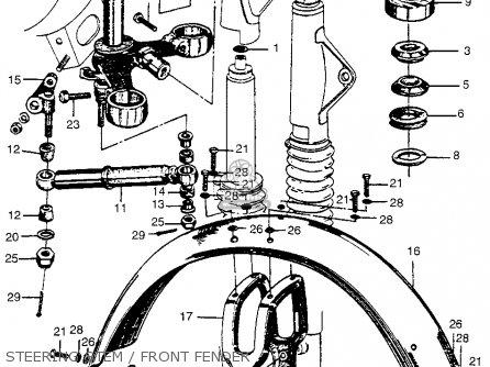 Honda Cl72 Scrambler 1962 Usa   250 Steering Stem   Front Fender