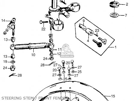 honda cl77 scrambler 1965 usa 305 parts lists and schematics Plug and Switch Wiring Diagram steering stem front fender
