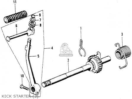 honda cl90 scrambler 1967 usa parts list partsmanual