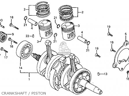 Honda Cm185t Twinstar 1978 Usa Crankshaft   Piston