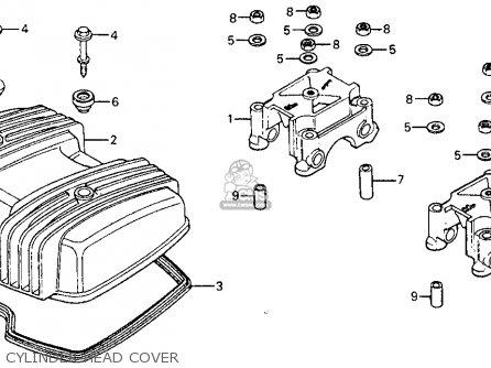 Honda Cm185t Twinstar 1978 Usa Cylinder Head Cover