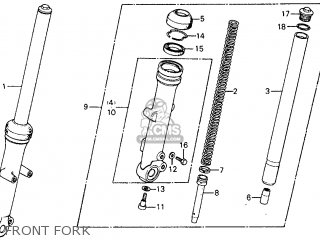 Honda Cm185t Twinstar 1978 Usa Front Fork