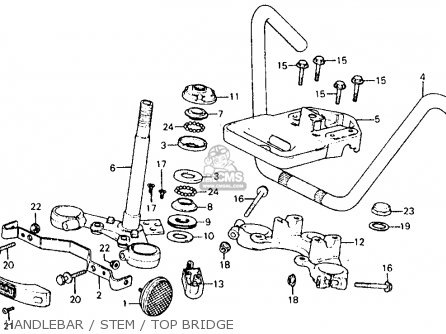 Honda Cm185t Twinstar 1978 Usa Handlebar   Stem   Top Bridge