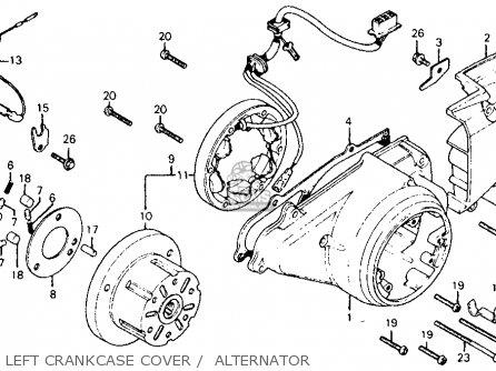 Honda Cm185t Twinstar 1978 Usa Left Crankcase Cover    Alternator