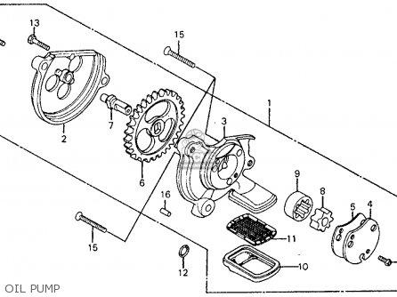 Honda Cm185t Twinstar 1978 Usa Oil Pump