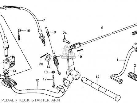 Honda Cm185t Twinstar 1978 Usa Pedal   Kick Starter Arm