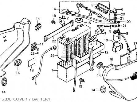 Honda Cm185t Twinstar 1978 Usa Side Cover   Battery