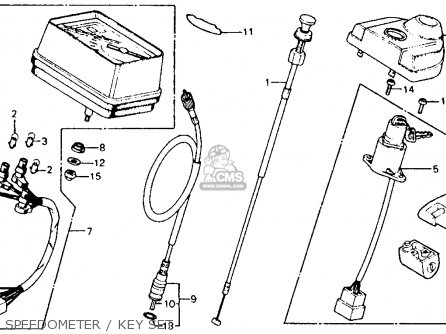Honda Cm185t Twinstar 1978 Usa Speedometer   Key Set