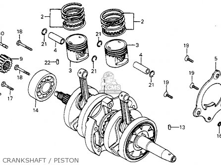 Honda Cm200t Twinstar 1980 a  Usa Crankshaft   Piston