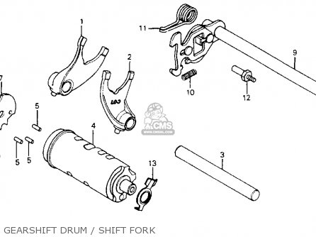 Honda Cm200t Twinstar 1980 a  Usa Gearshift Drum   Shift Fork