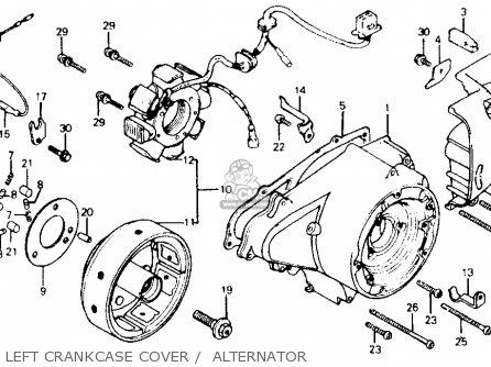 Honda Cm200t Twinstar 1980 a  Usa Left Crankcase Cover    Alternator