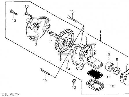 Honda Cm200t Twinstar 1980 a  Usa Oil Pump